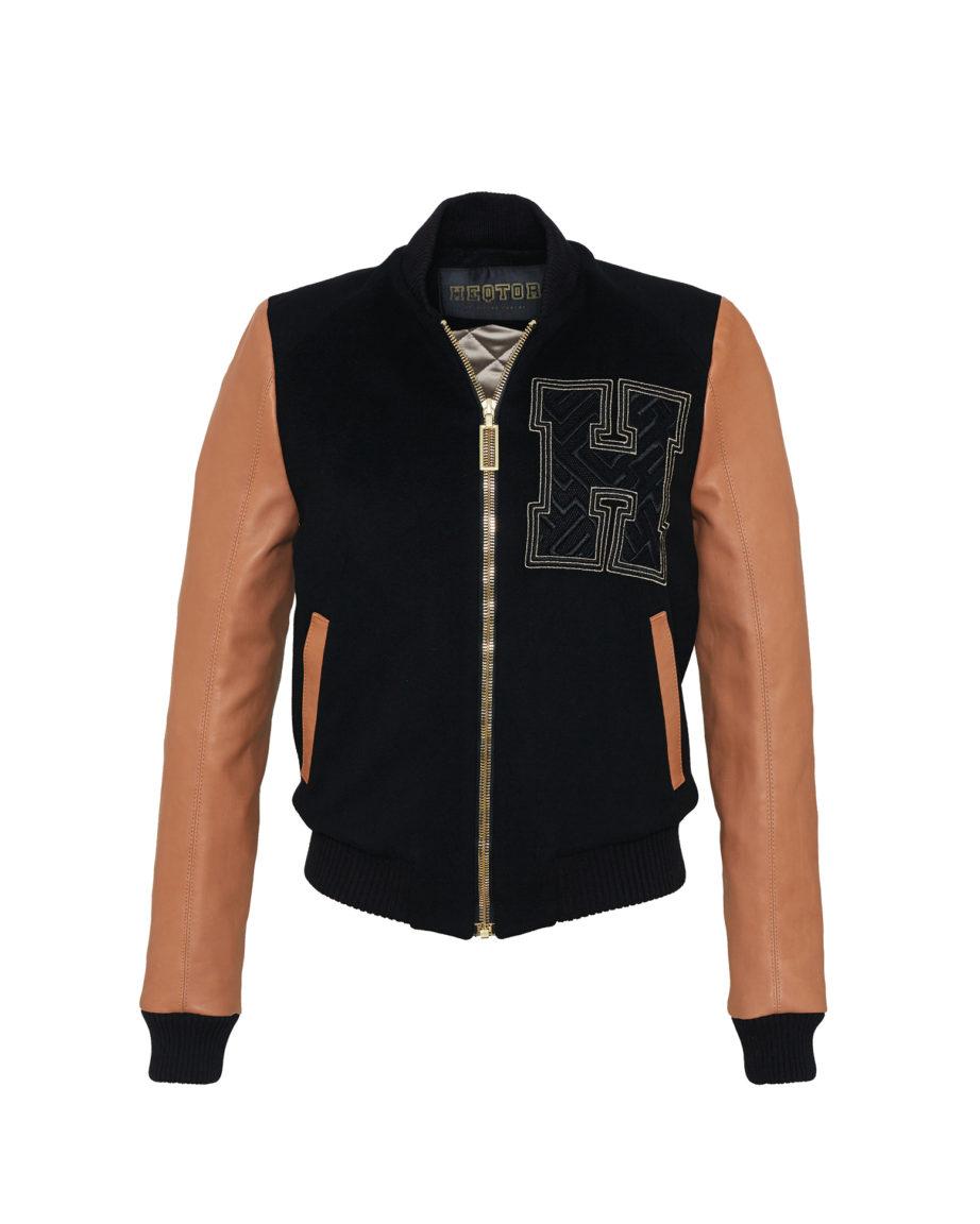 Amazeballer Black & Caramel Cashmere & Leather