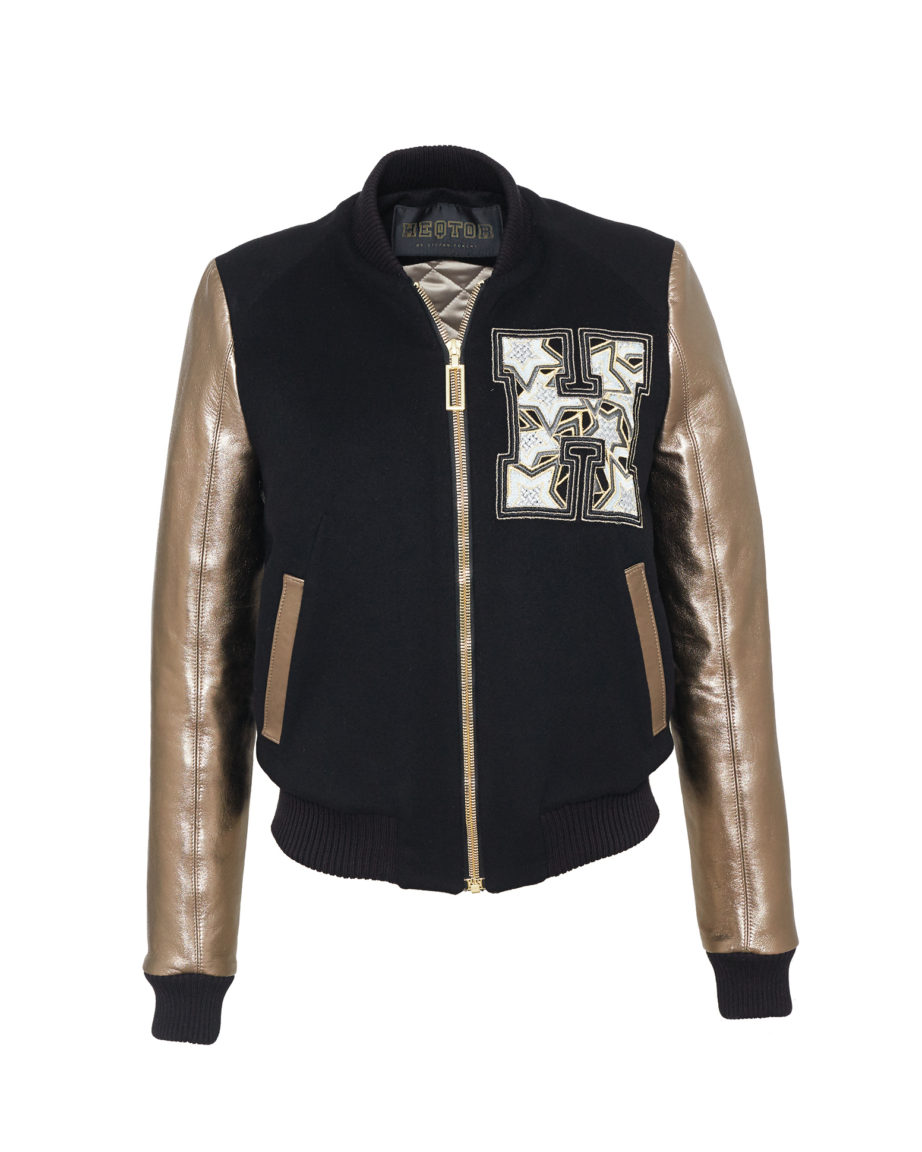 Starstriker Black & Gold Cashmere & Leather
