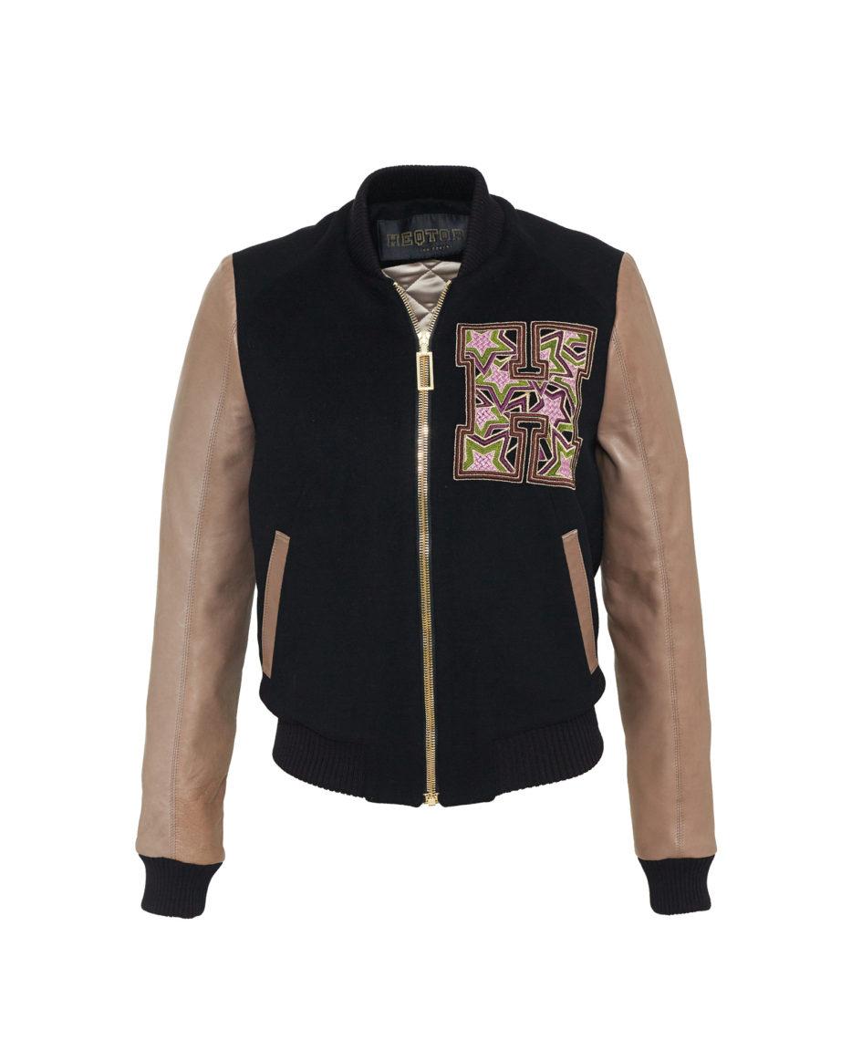Starstriker Black & Latte Cashmere & Leather