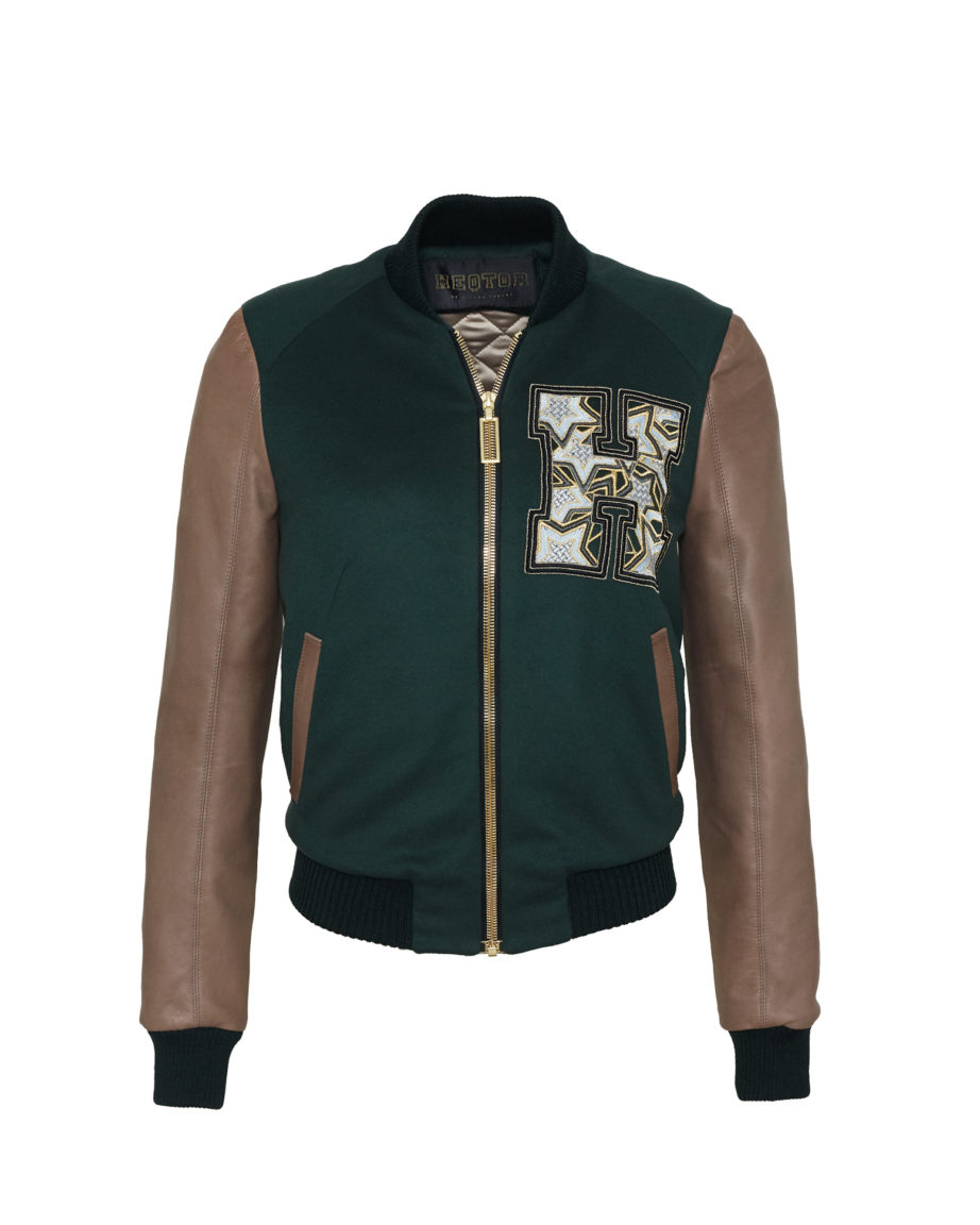 Starstriker Racing Green & Taupe Cashmere & Leather