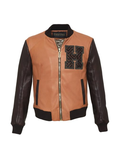 HEQTOR Baseballjacket Amazeballer Caramel & Coffee Leather & Leather