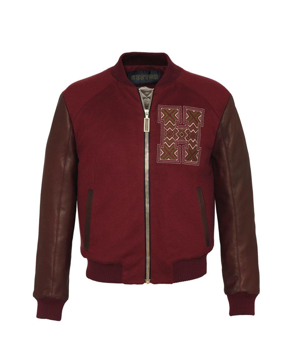 Eyecatcher Bordeaux & Claret Cashmere & Leather for men
