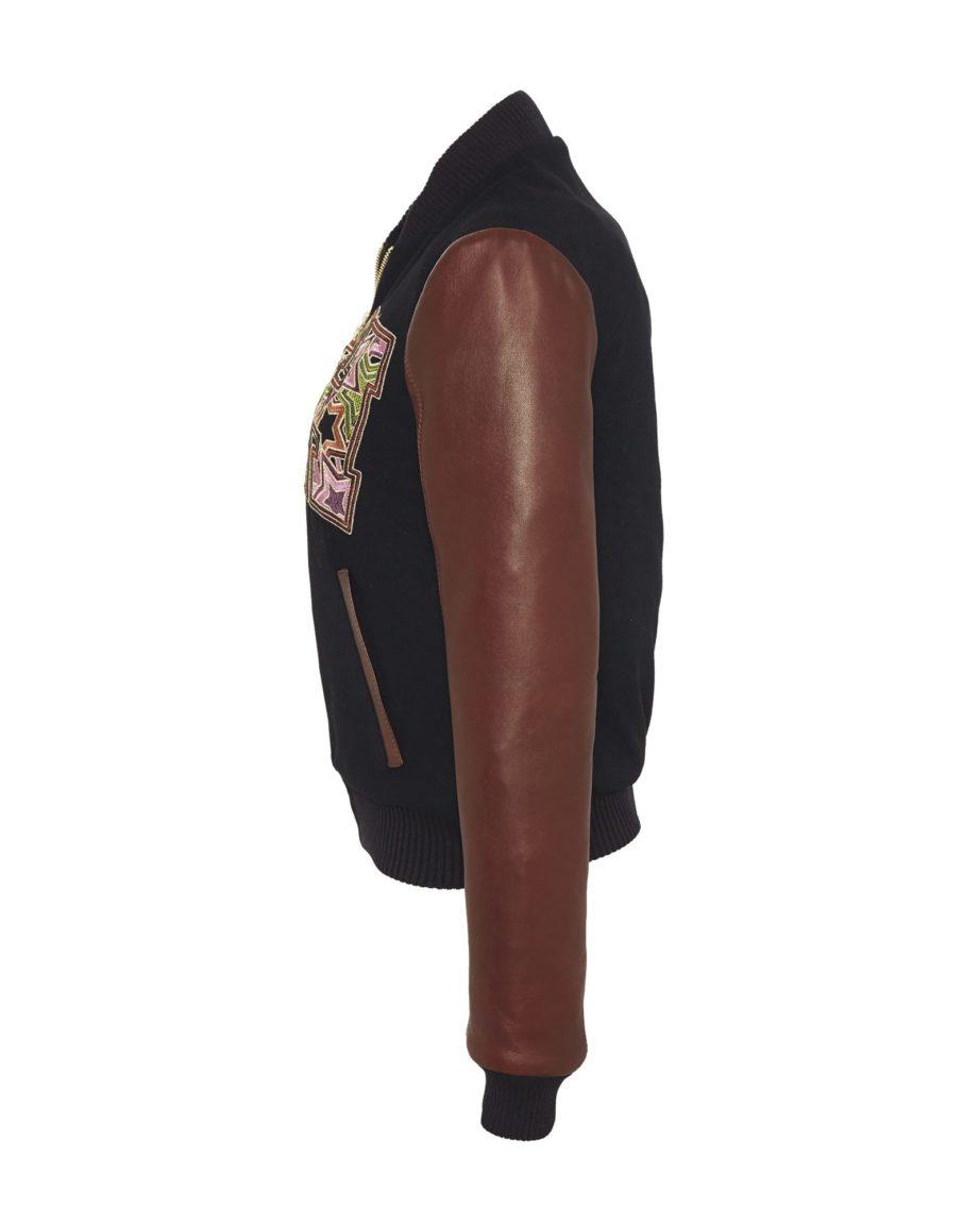Starstriker Black & Chocolate Cashmere & Leather