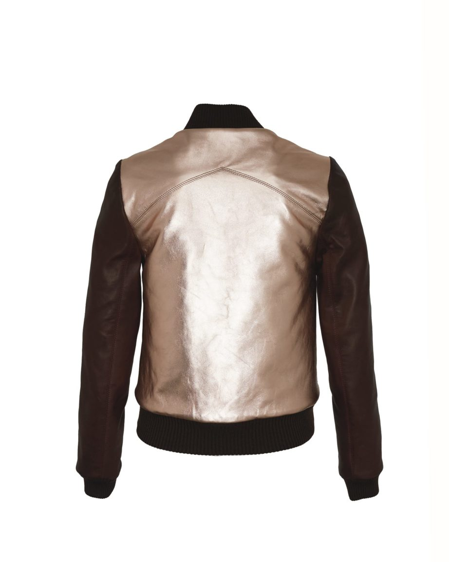 Eyecatcher Gold & Chocolate Leather & Leather